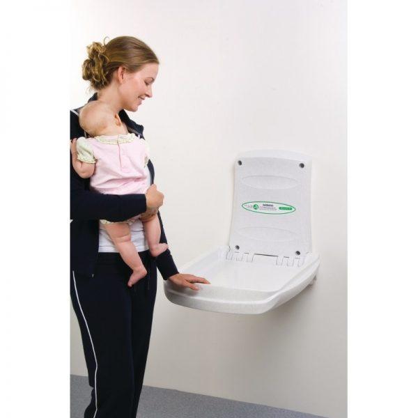 Cambiador de bebé vertical Magrini (abierto) - cambiadordepanales.es
